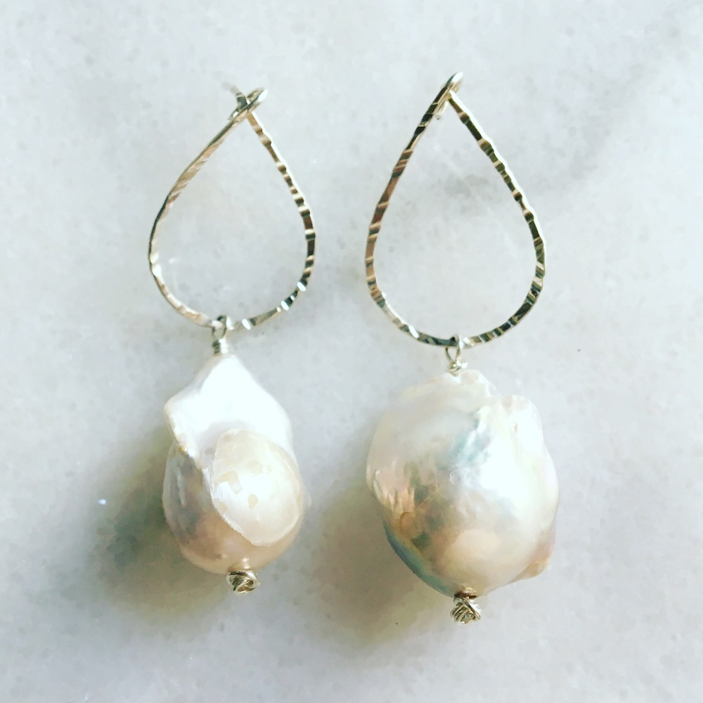 Pearl Bridesmaid Statement Earrings