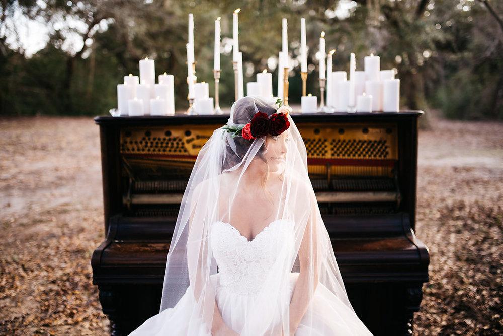 Piano Shoot with Amanda Lynn Photography and Everistta Bridal