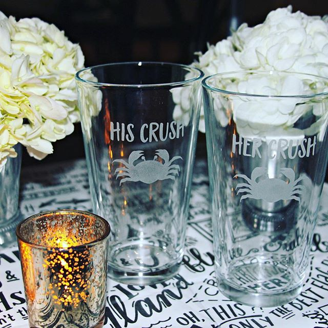 Summer...summa...time. Thinking back to the perfect glasses for your summer drinks  from my brother and sister-in-law's rehearsal dinner. Beautifully handcrafted by @eikohdesign .
