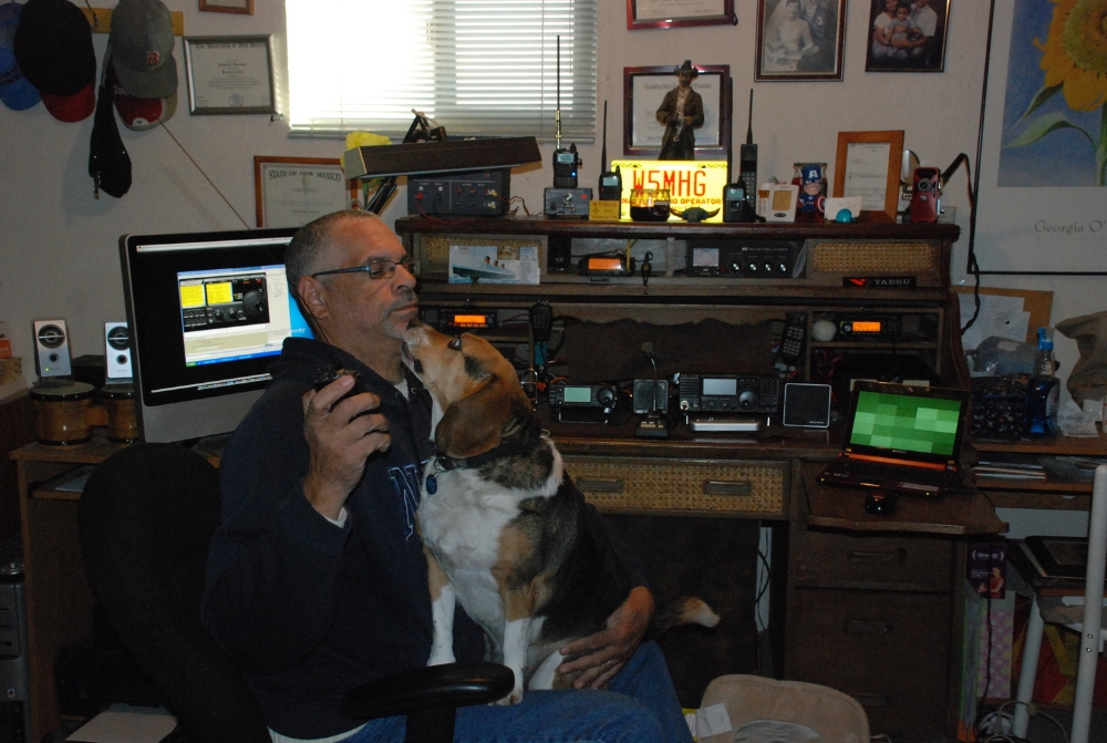 Sammy and I on the radio.