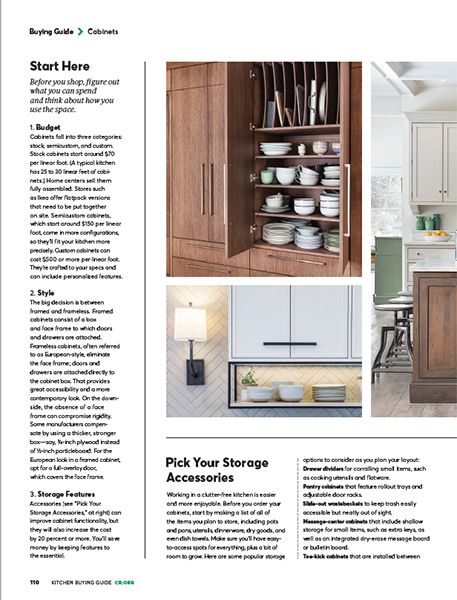 Quartersawn Kitchen Featured in Consumer Reports ...