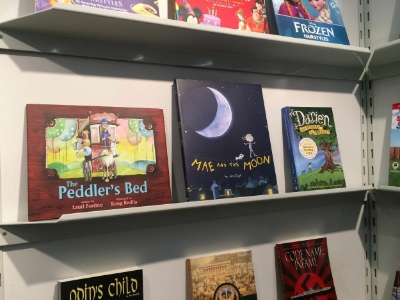 The Peddler's Bed  by Lauri Fortino, illustrated by Bong Redila and  Mae and the Moon  by Jami Gigot in Frankfurt