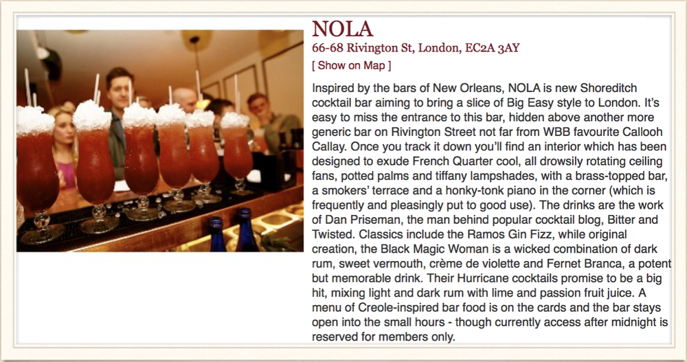 World's Best Bars: About NOLA, 2013