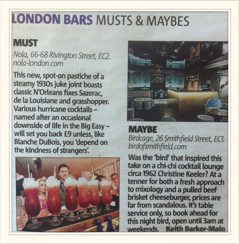 Metro: London Bars - Musts & Maybes, 2013