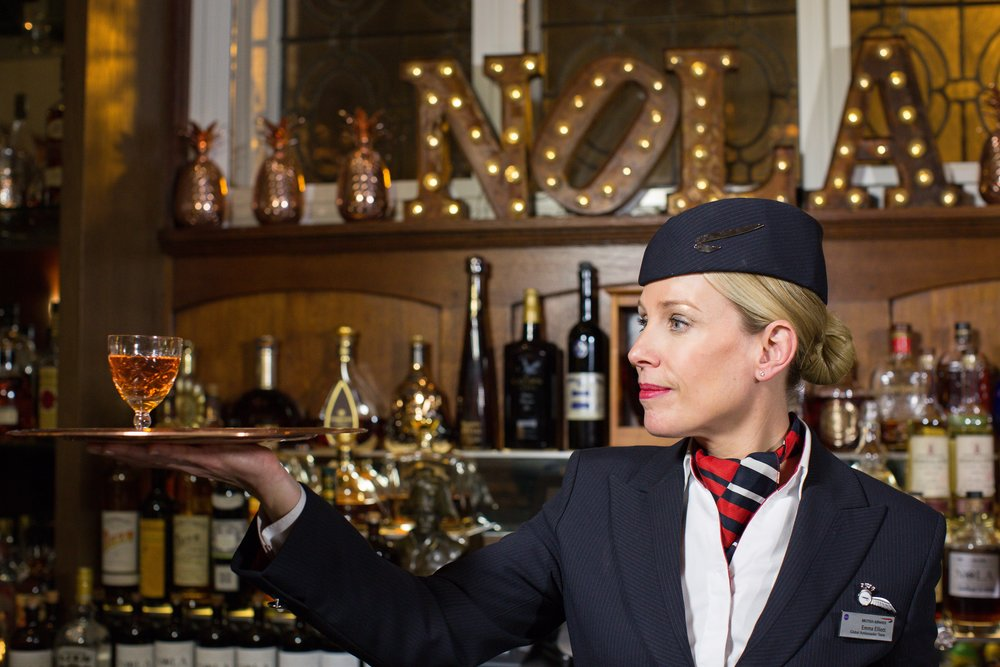 BA ambassador Lisa serves one of New Orleans' most famous cocktails, the Sazerac, in NOLA's bar at the Courthouse Hotel, London (C) Nick Morrish - British Airways-min.jpg