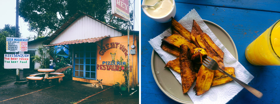 Rest Maquen... best breakfast around.  Fried bananas and queso fresco.. mmm...
