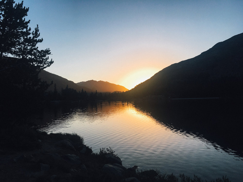 Sunrise just before heading into Yosemite.