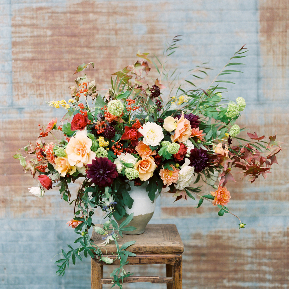 fall arrangement by Sprout Floral Design