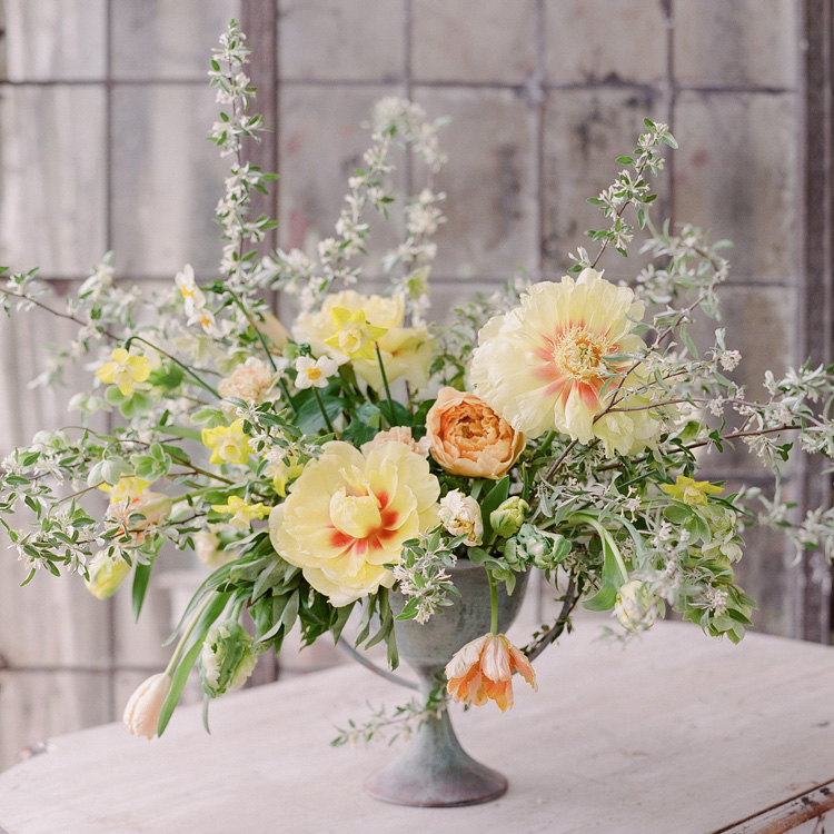 Spring Peony Arrangement by Sprout Floral Design