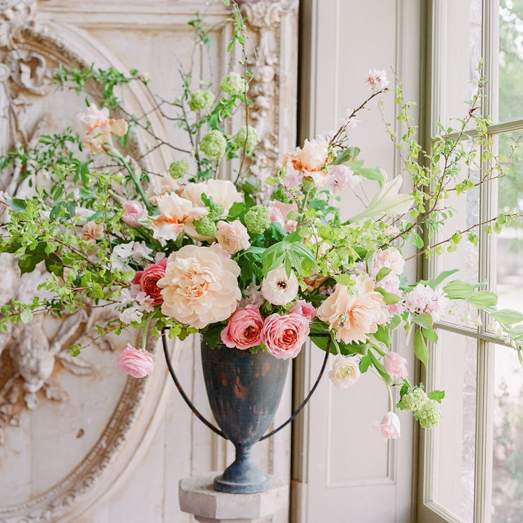 Spring Urn Arrangement by Sprout Floral Design