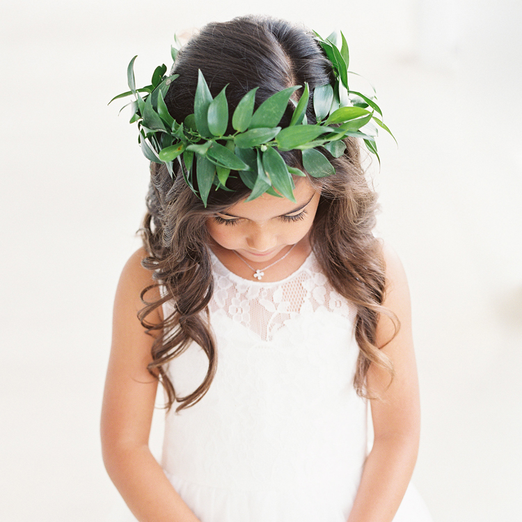 Flower Girl Halo by Sprout Floral Design