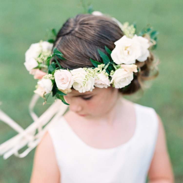 Spring Flower Girl Halo by Sprout Floral Design