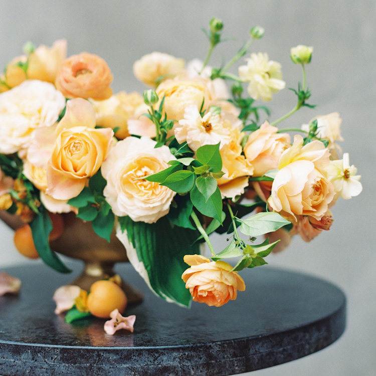 Spring Garden Rose and Ranunculus Arrangement by Sprout Floral Design