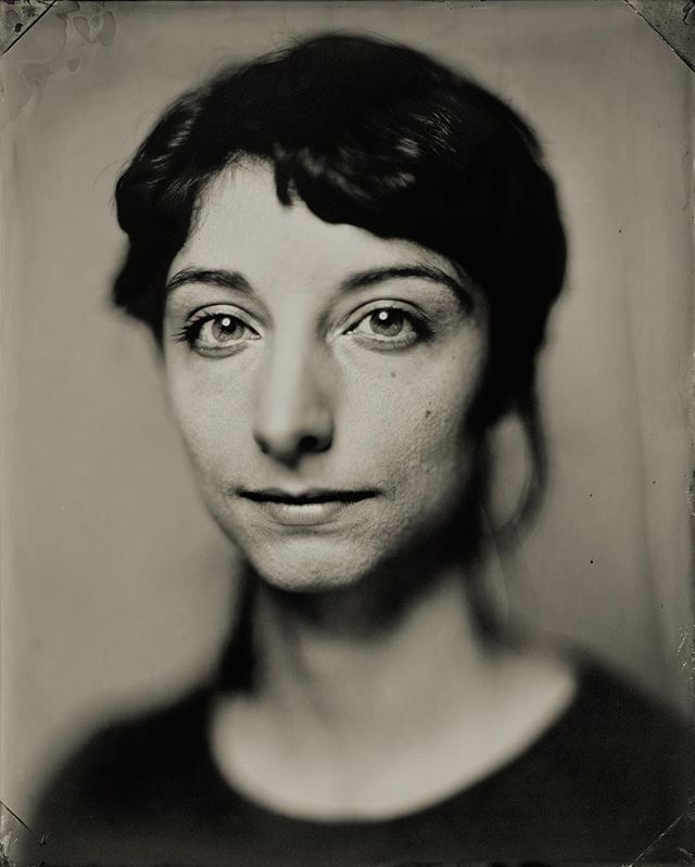 My newest tintype portrait taken by @geoffreyberliner. He was testing a new lens, a Hugo Meyer Trioplan 480mm f3.5, to use in the @penumbratintypestudio. The lens is flat field and can cover 16x20inches!