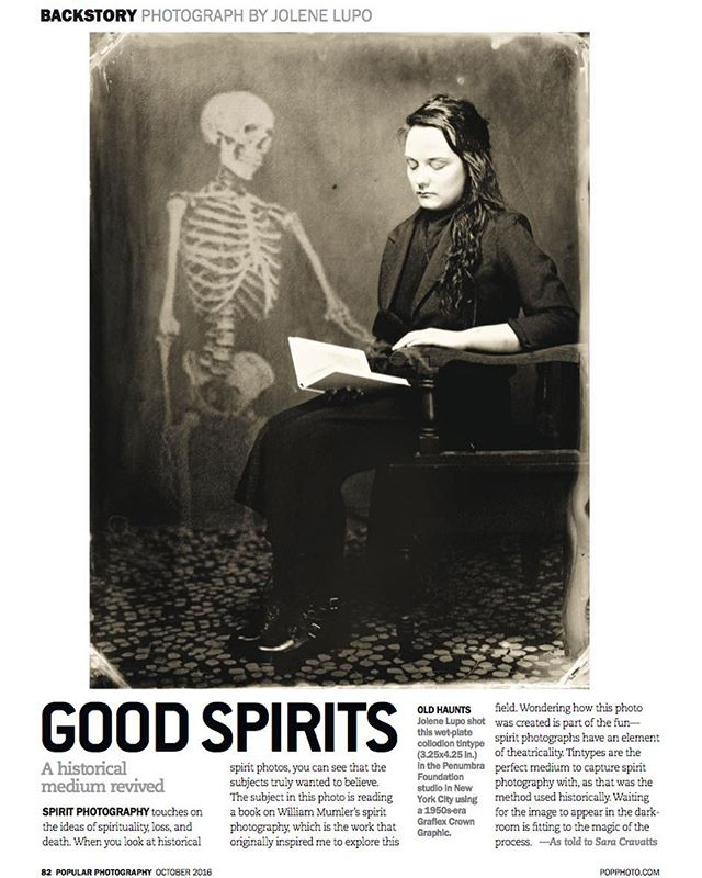 Thanks to @popphotomag & @fionagardner for featuring my spirit photograph in the backstory of their last issue! 💀