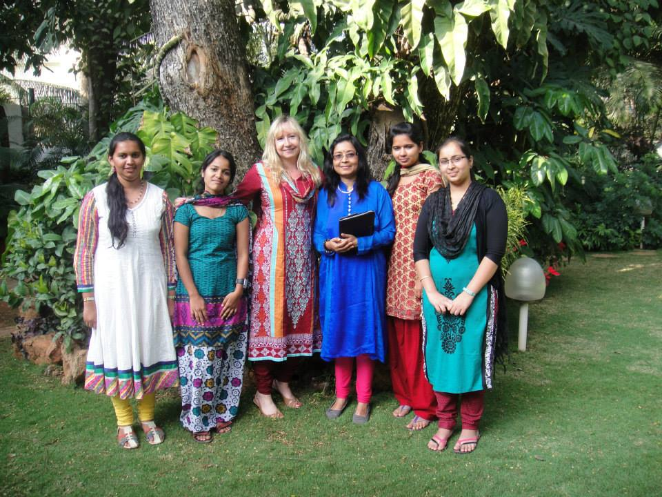 Our Scholarship Girls in Bangalore, INDIA - January 2014