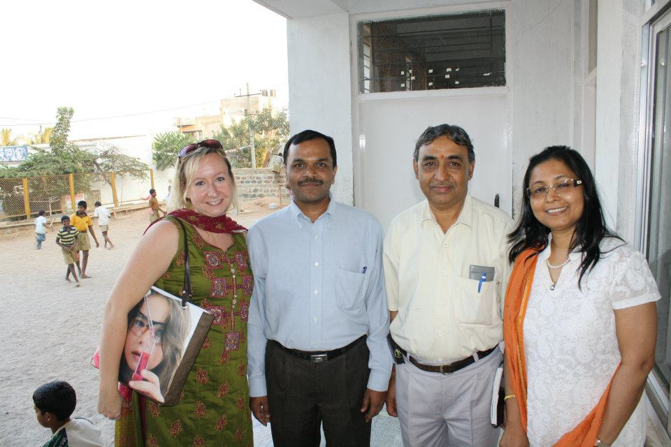 With the NELE Foundation in Bangalore, INDIA - February 2012