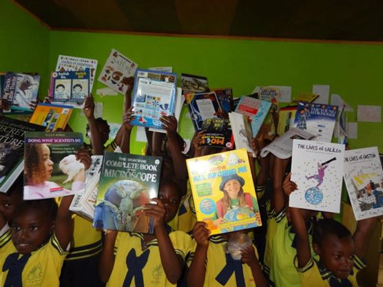 Our Science Library Books reach Cameroon, October 2012