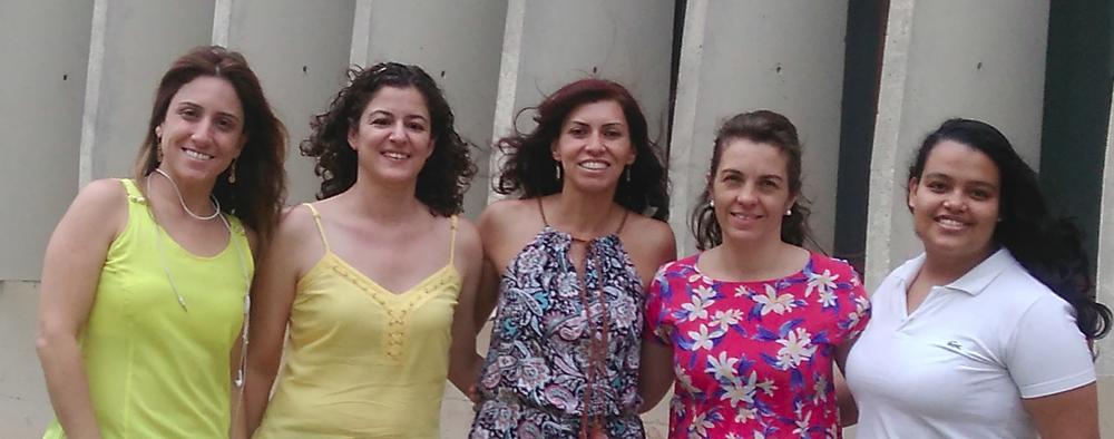 (  g4g equipe do Brasil, da esquerda para a direita) Ana Paula Urzedo,Tina Armond, Kelly Torres,Mariana Garabini & Carolina Reciate