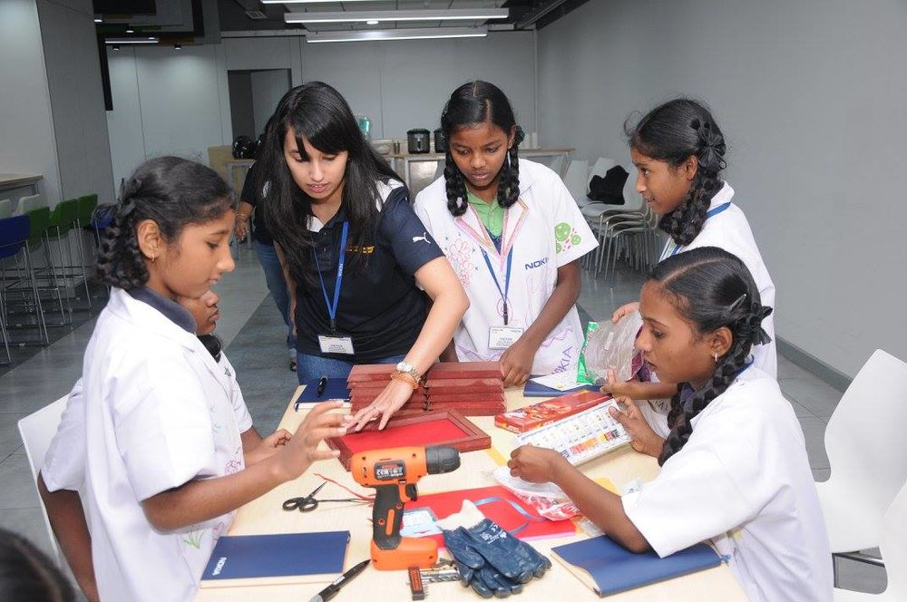 Launch g4g Day @Bangalore - Nov. 2017    In November, we took our g4g Day to the Nokia premise in Bangalore, India. 100 girls spend their day participating in fun, interactive, hands-on workshops related to STEM.