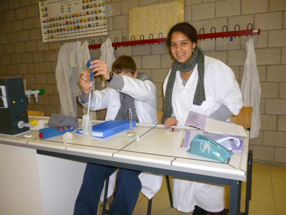 This is me in High-School. See… I already had a white labcoat!