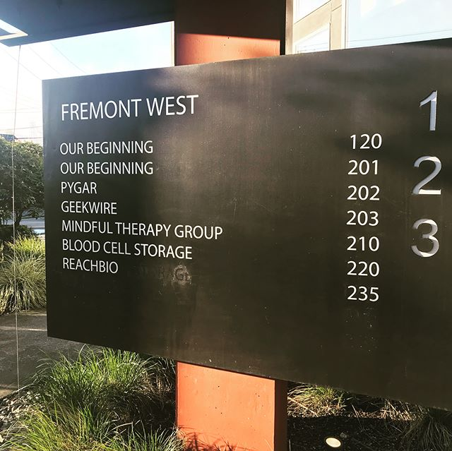 It's a beautiful spring morning in #Fremont!! And we have our name on the sign!! #mindfultherapygroup  #new  #design  #interiordesign  #mentalhealth  #creatingaccess #providingopportunity