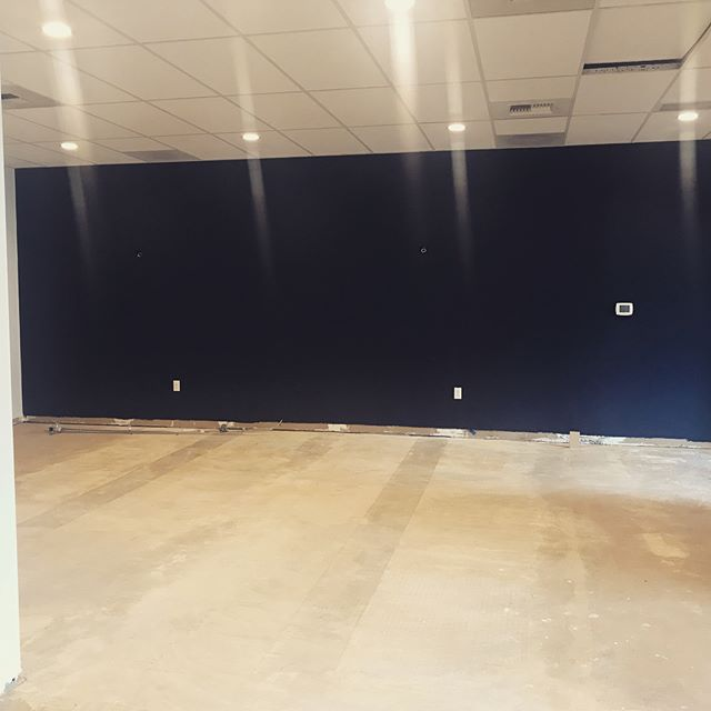 Progress on our #Fremont space! Carpet going in tonight!