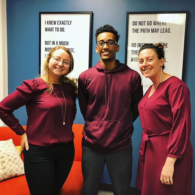 It's fall in the Pacific Northwest, and our team is clearly in sync with the season's colors! #feelingfall #matchymatchy