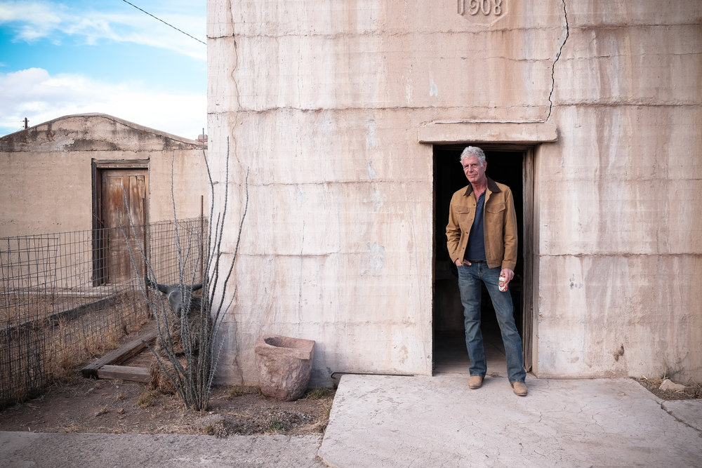 Anthony Bourdain in West Texas for CNN Parts Unknown.