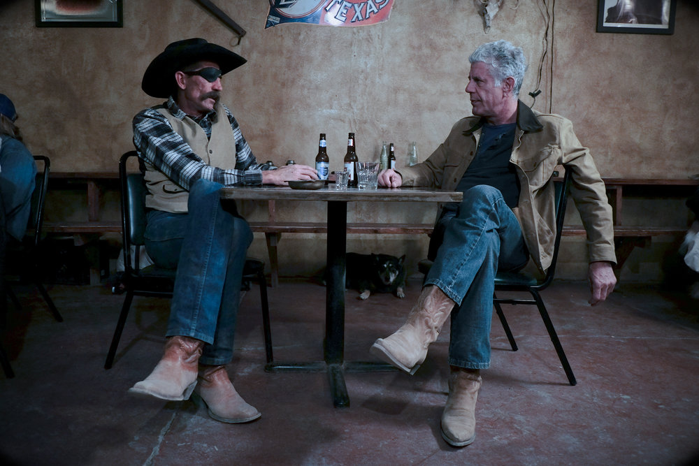 Anthony Bourdain in Marfa, Texas for CNN Parts Unknown