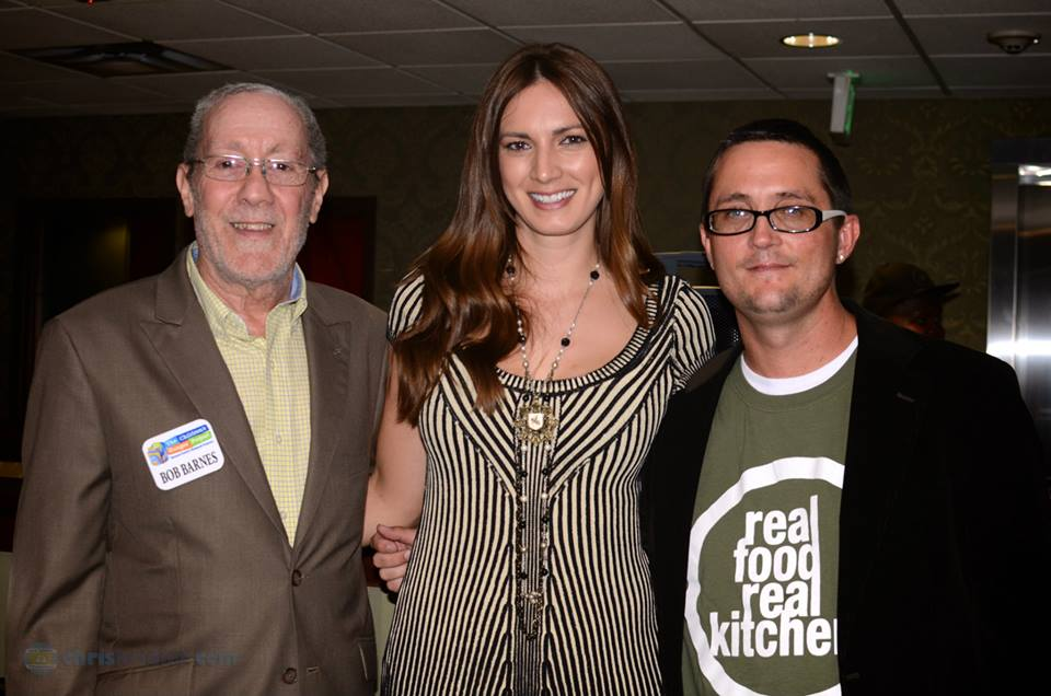 Bob Barnes Founder of The Children's Hunger Project, Host & MC for the night Shannon Royer, Real Food Real Kitchen's creator Craig Chapman