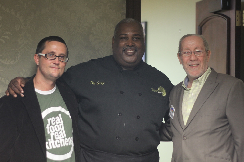 Craig Chapman creator of Real Food Real Kitchens, Chef George Carpten III guest on season 2 of RFRK, and Bob Barnes Founder of The Children's Hunger Project.