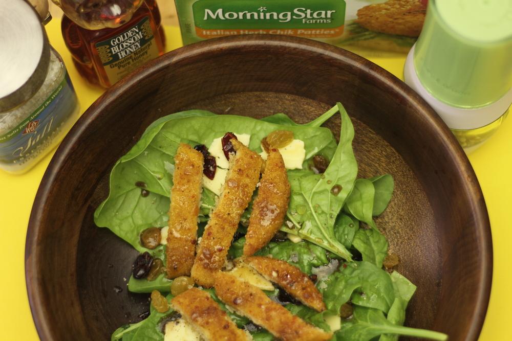 Hydroponic Spinach Salad