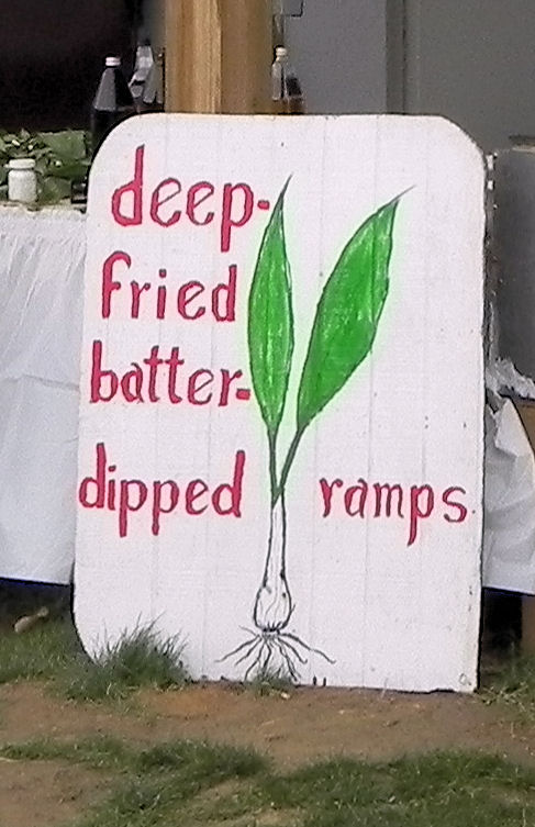 Ramps served deep fried at a Ramp festival.