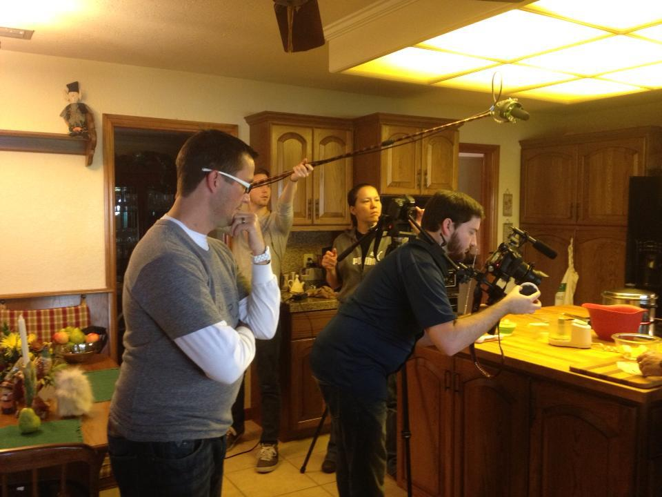 Craig Chapman and Crew shooting an episode of Real Food Real Kitchens