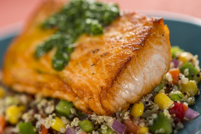 Verlasso Salmon with Quinoa Salad at the Epcot Food & Wine Festival
