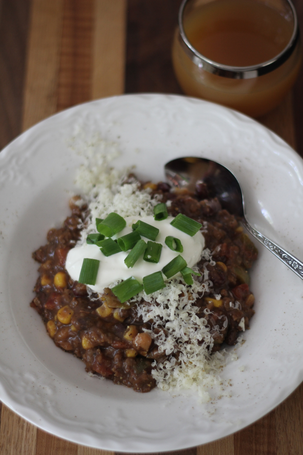 Spooky Vegetarian (or not) Chili
