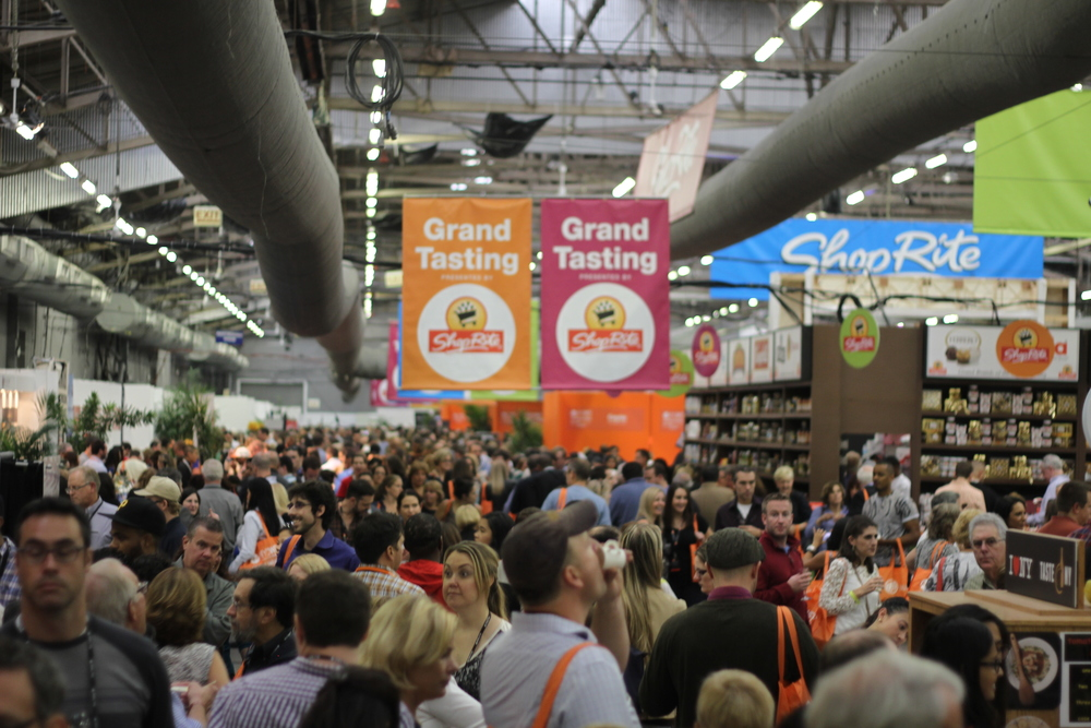 The madness of the Grand Tasting at the #NYCWFF. Sooo much good food and drink!