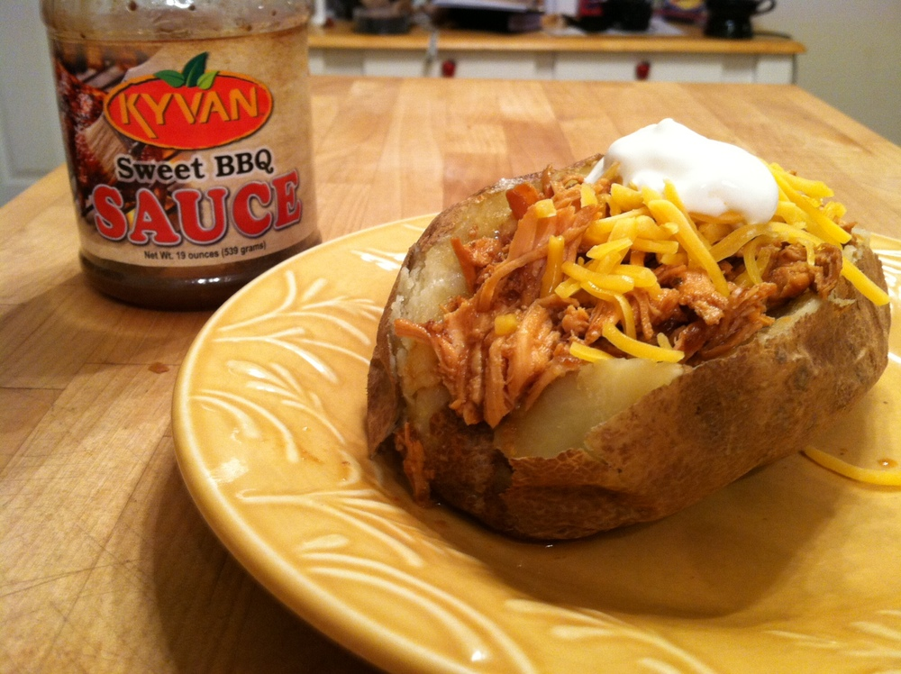 Sweet BBQ Loaded Baked Potato