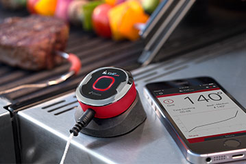 The iGrill Mini in action.