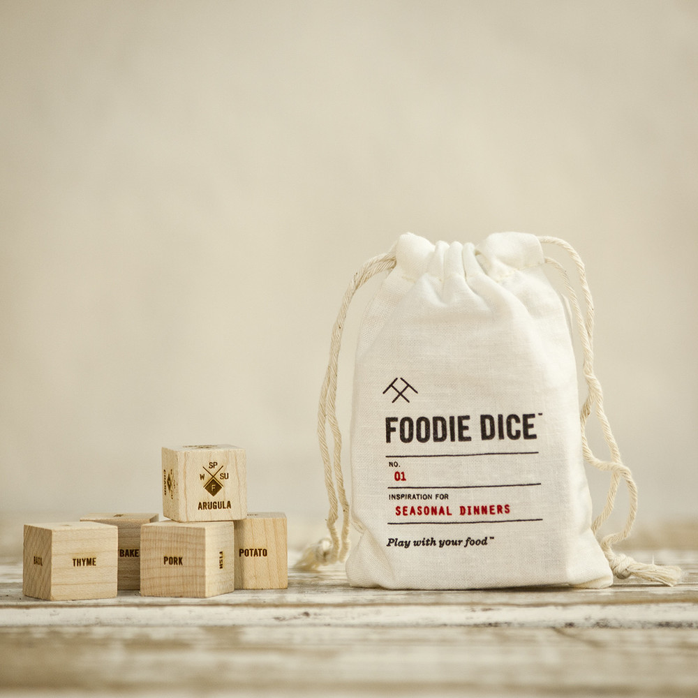 Foodie Dice come in a bag, or tumbler (*see below)
