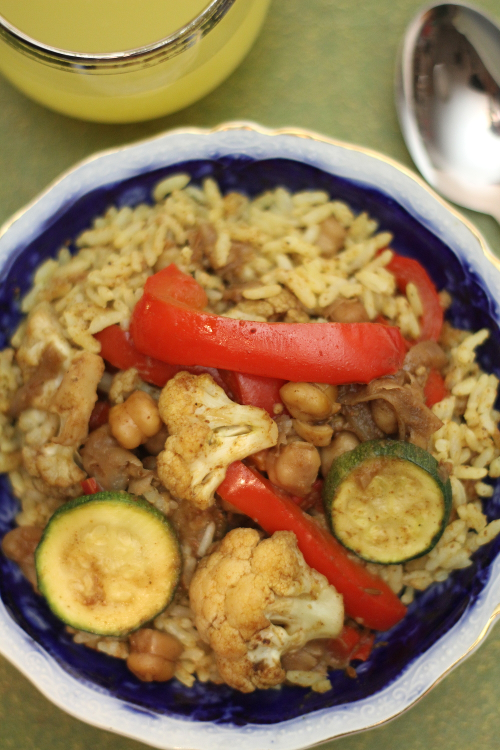 Vegetable African Curry with Curried Rice