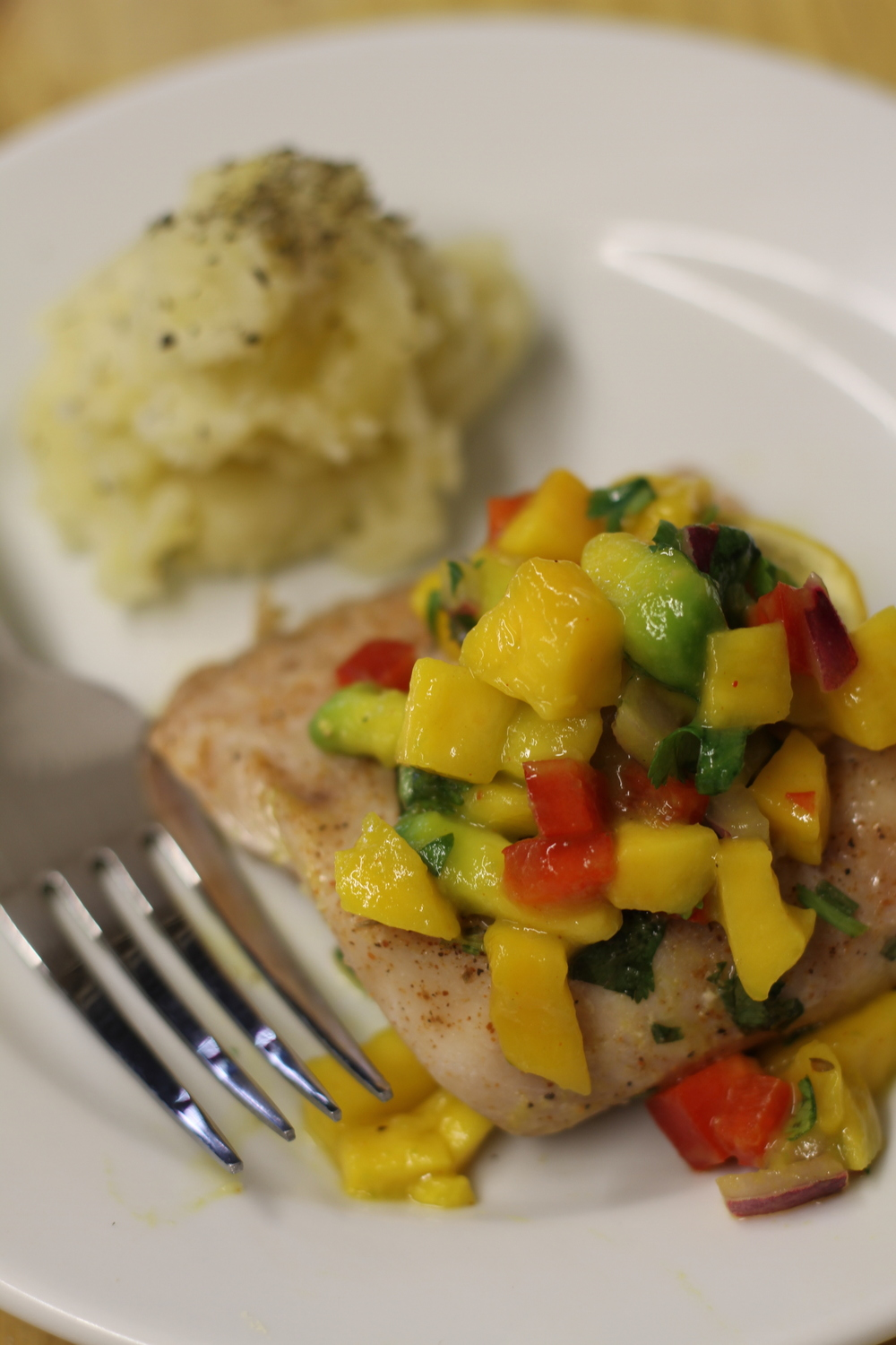 Grilled Snapper with Citrus Avocado Salsa