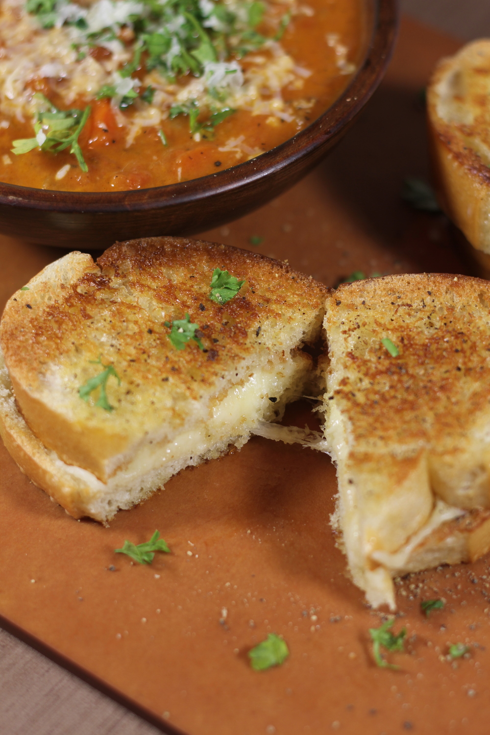 Classic Grilled Cheese and Homemade Tomato Soup
