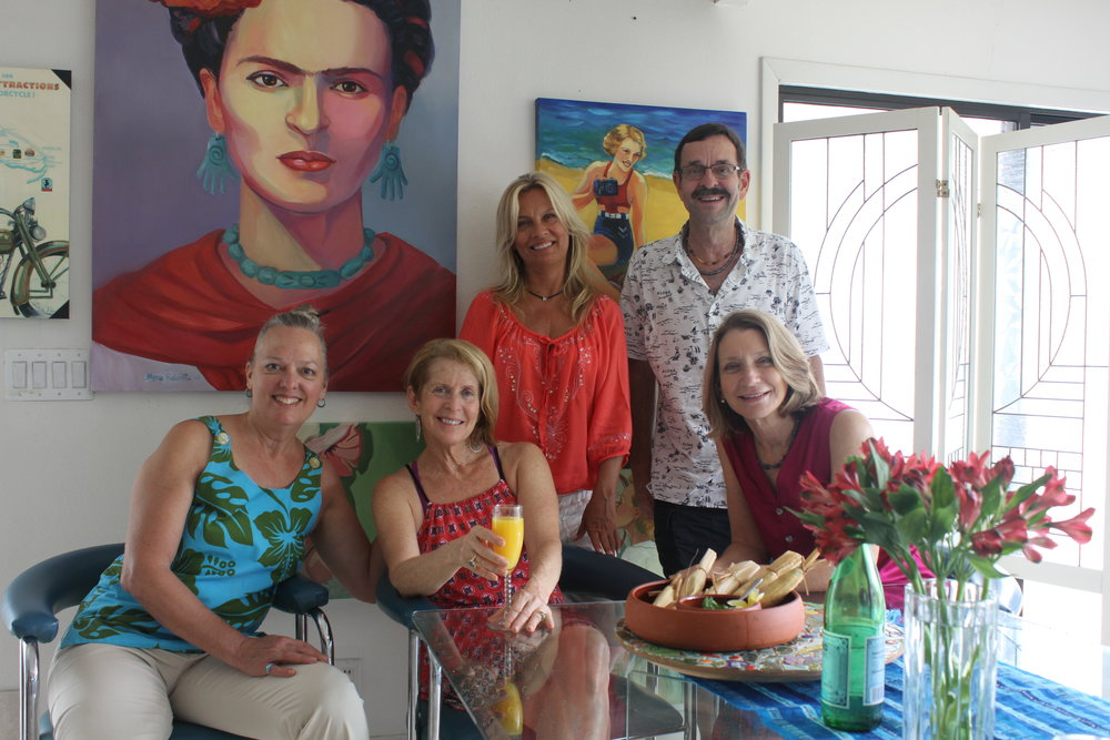 Myra Roberts and friends gather for a tamale making party!