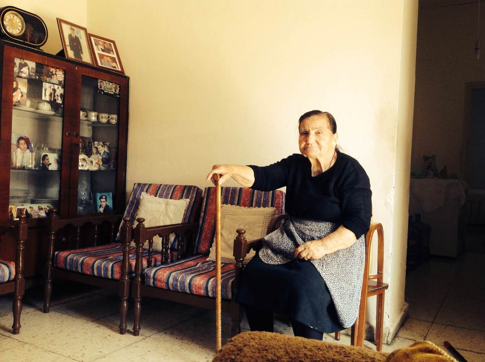Mrs. Eleni Potamou as photographed in her house in Limassol, Cyprus