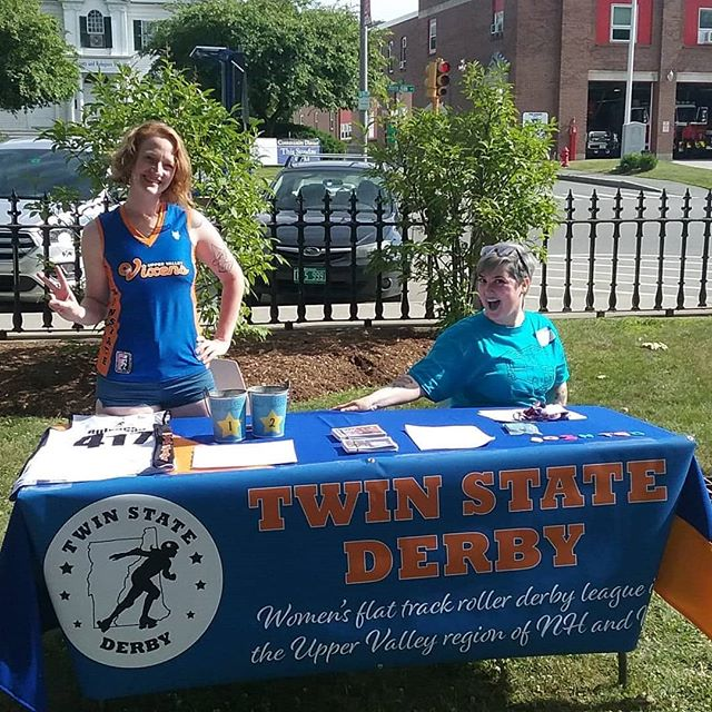 We are at the Lebanon Food Truck Festival sharing info on how to join Twin State Derby, reminding folks when our next game is, and handing out derby names with our roller derby name generator. Swing by between bites to say hi! #twinstatederby #recruitment #rollerderbyname #foodtruckfestival #noms