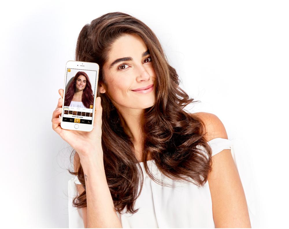 Download Myshade Clairols Virtual Hair Color App Licator Silvana