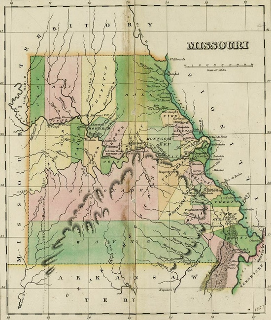 Map from the State Historical Society of Missouri collection