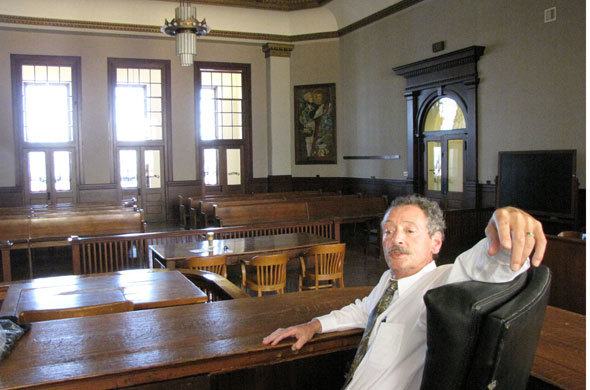 Judge Vernon Scoville in the historic Brady Courtroom.